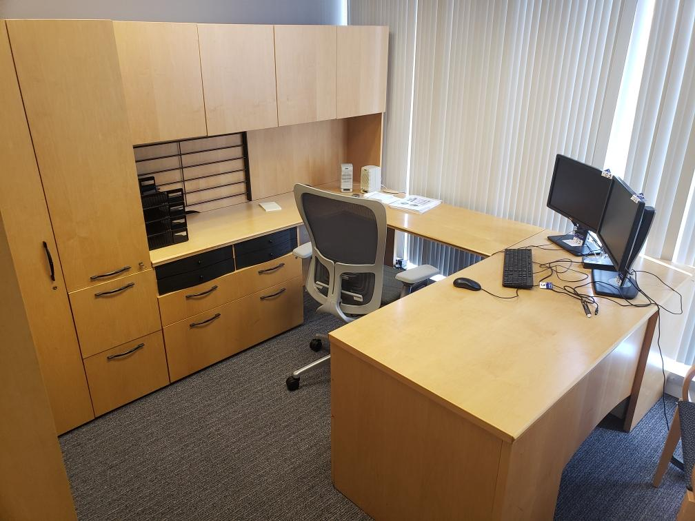 U Shaped Office Desk Suite