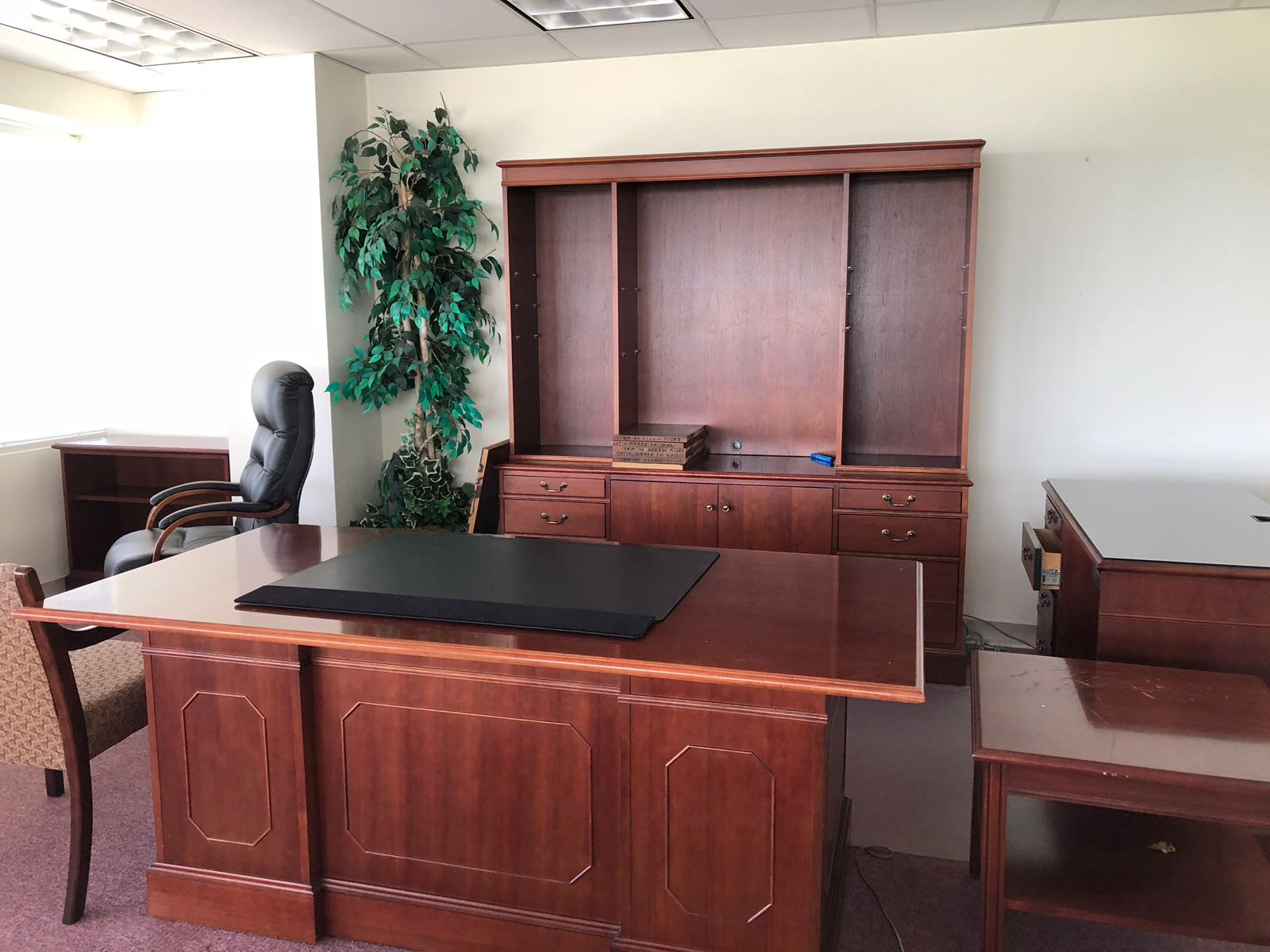 Office Desk and Credenza with Hutch
