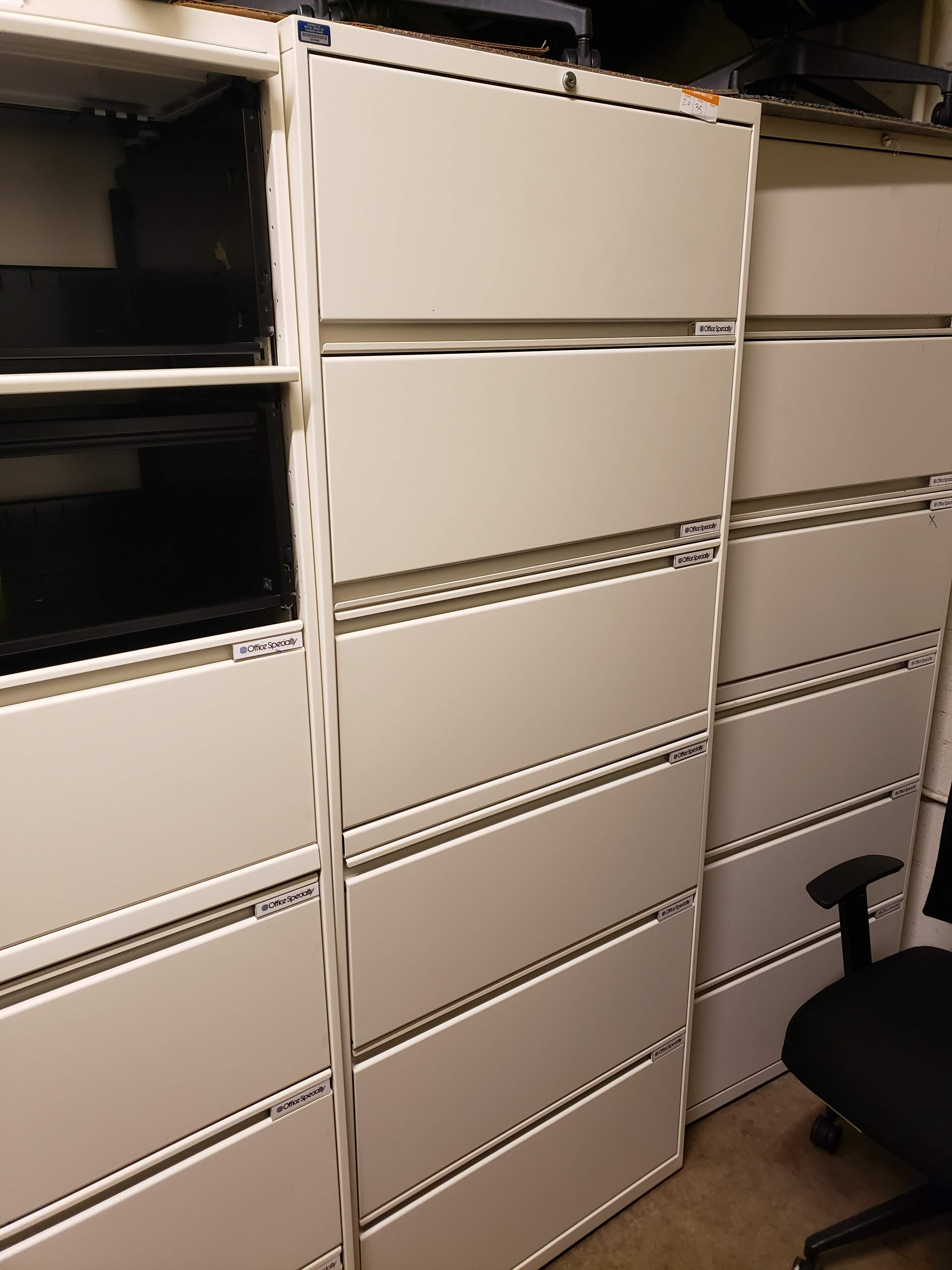 6-drawer 30 inch lateral file cabinets