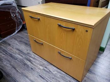 2-drawer wood cabinet