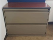 2-Drawer Lateral File Cabinet- Wooden top