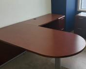 Peninsula L-Shaped Desk with Pedestal