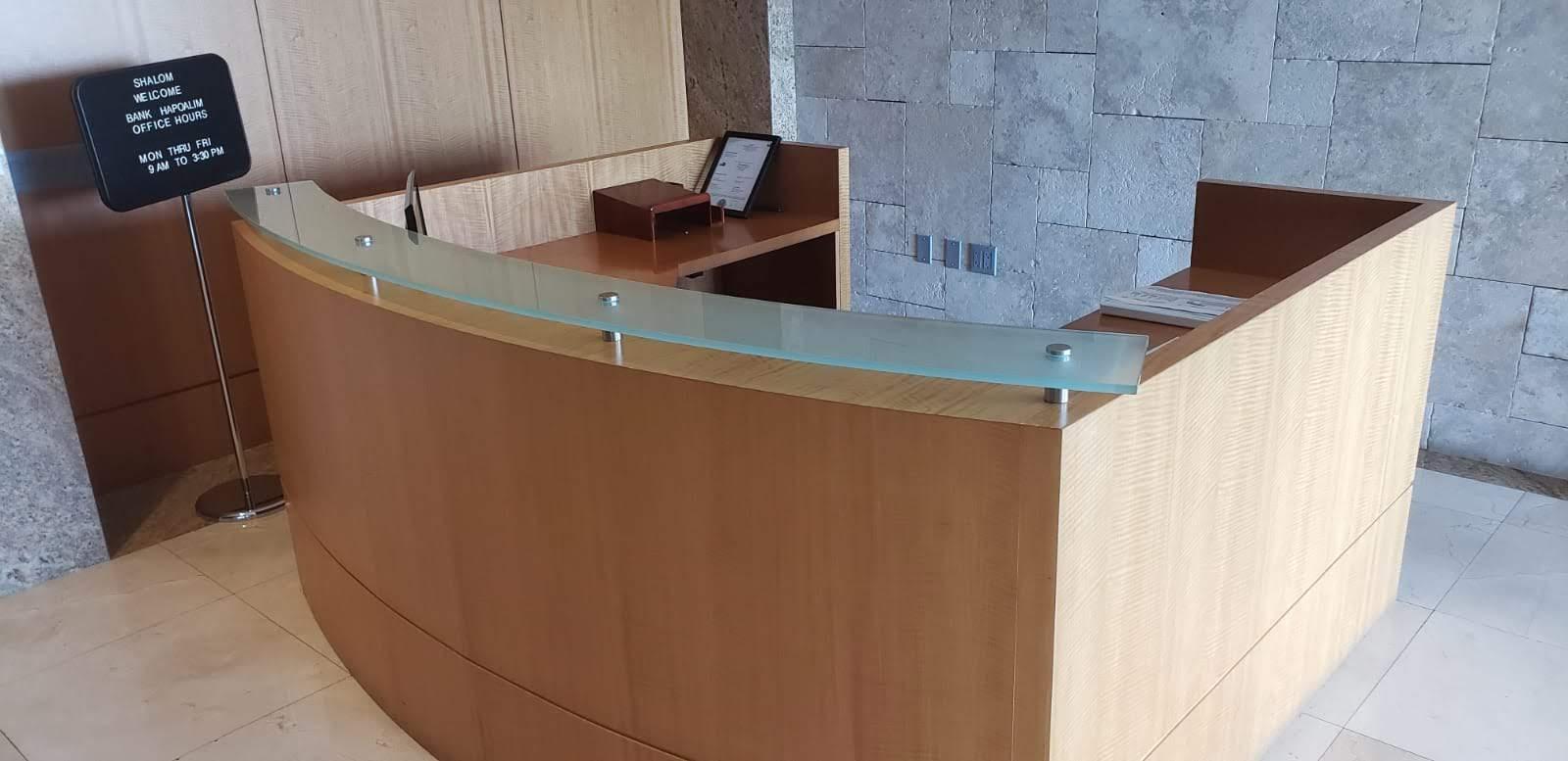 Reception Desk Veneer Wood
