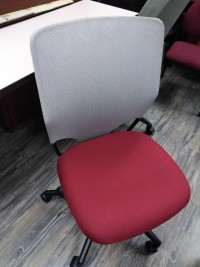 Gray Back Red Seat Office Chair