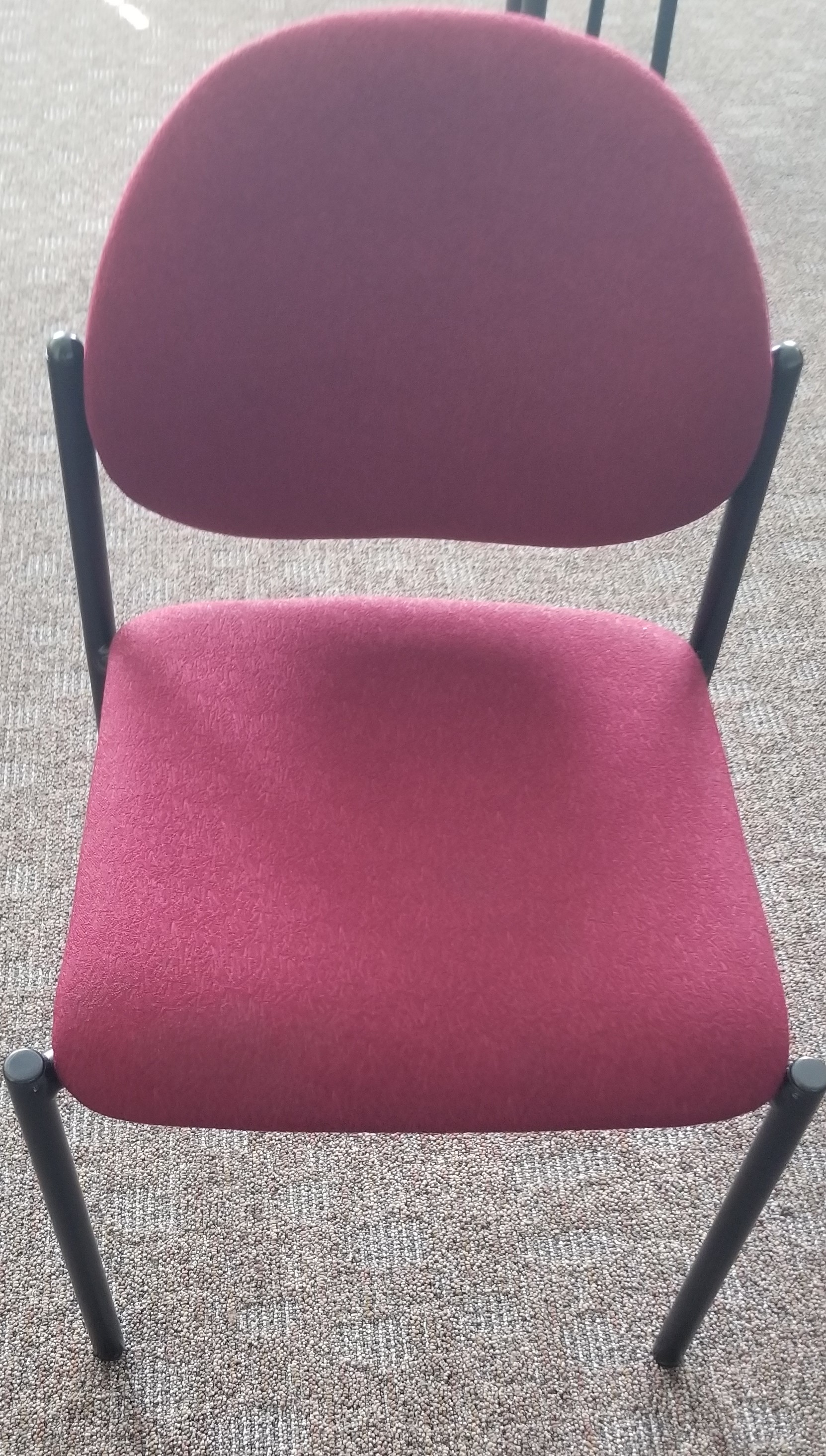 Maroon Stackable Chairs with Adjustable Back