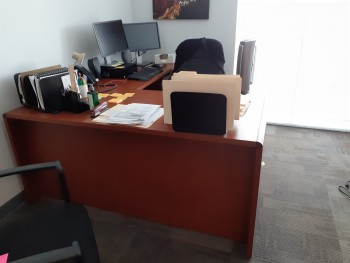 L-shaped desk $195