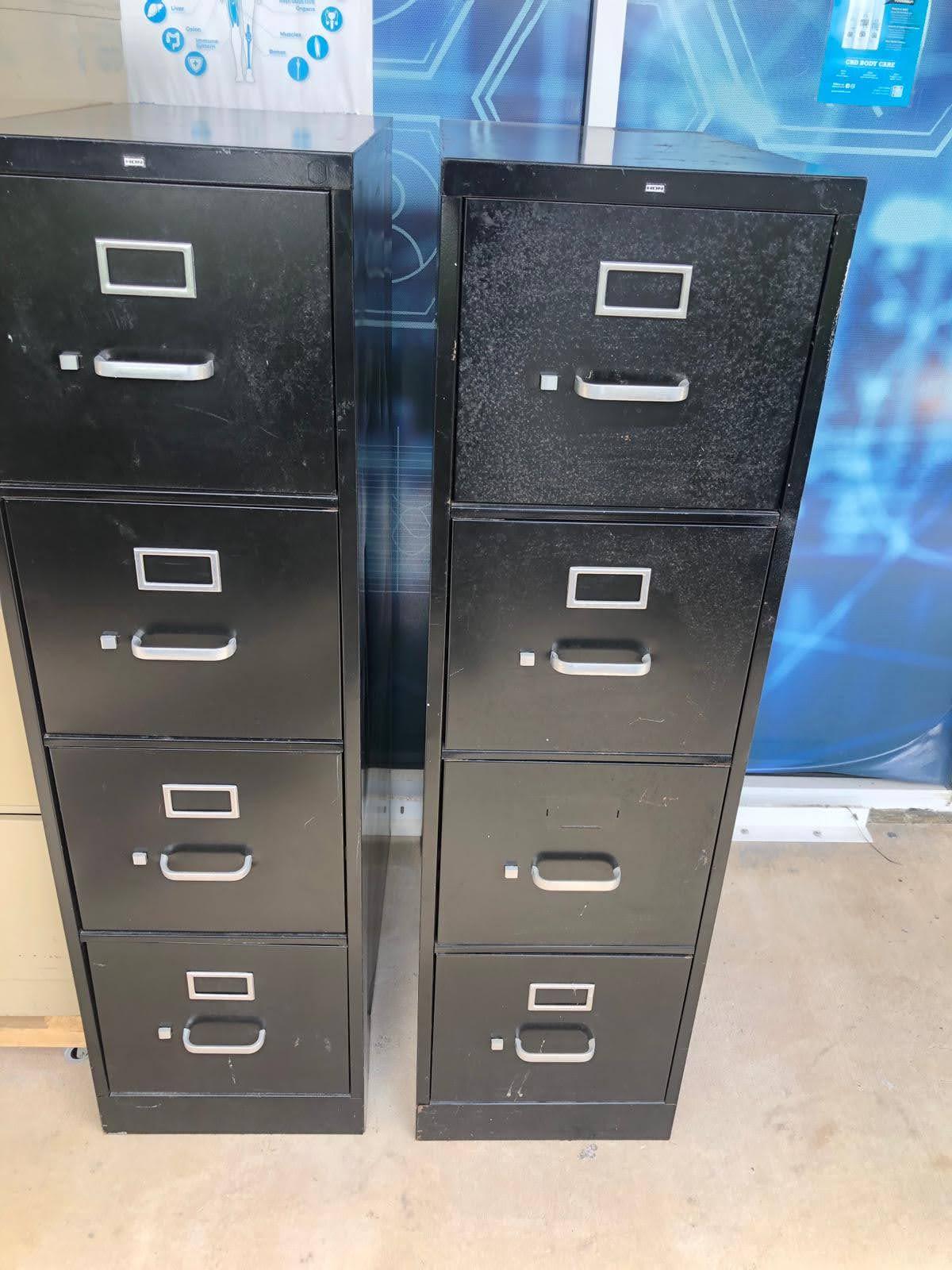 4-Drawer Vertical File Cabinets, black
