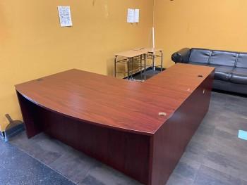 Bow Front L-Shaped Desk