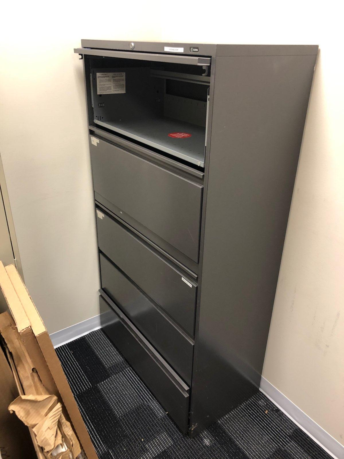 Black Lateral 36 inch file cabinet