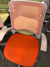 Orange Mesh Back Chair