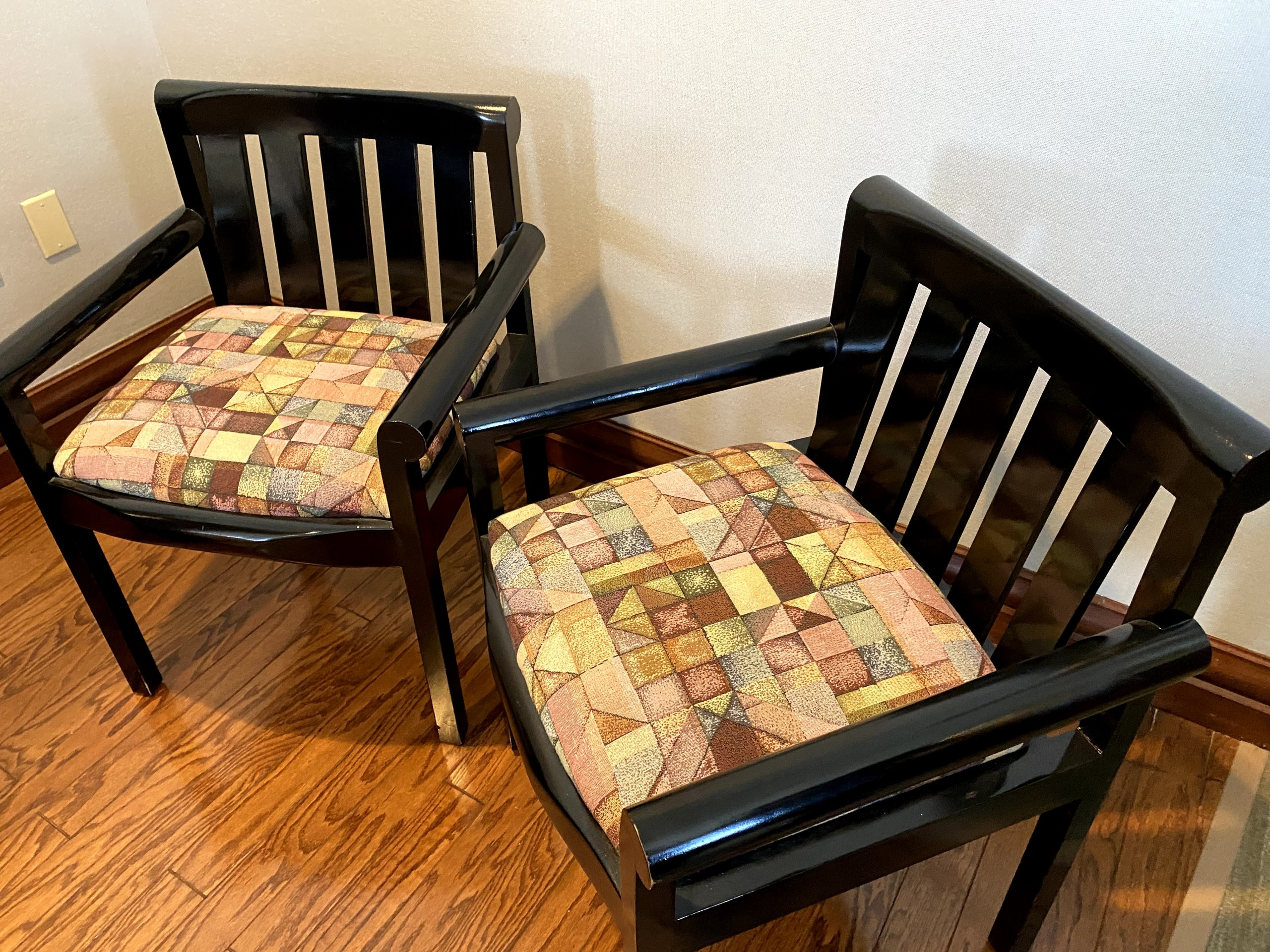 Patterned Guest Chairs