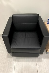 Black Reception Sofa