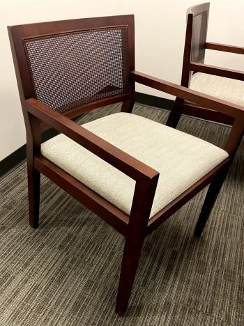 Wood waiting chairs