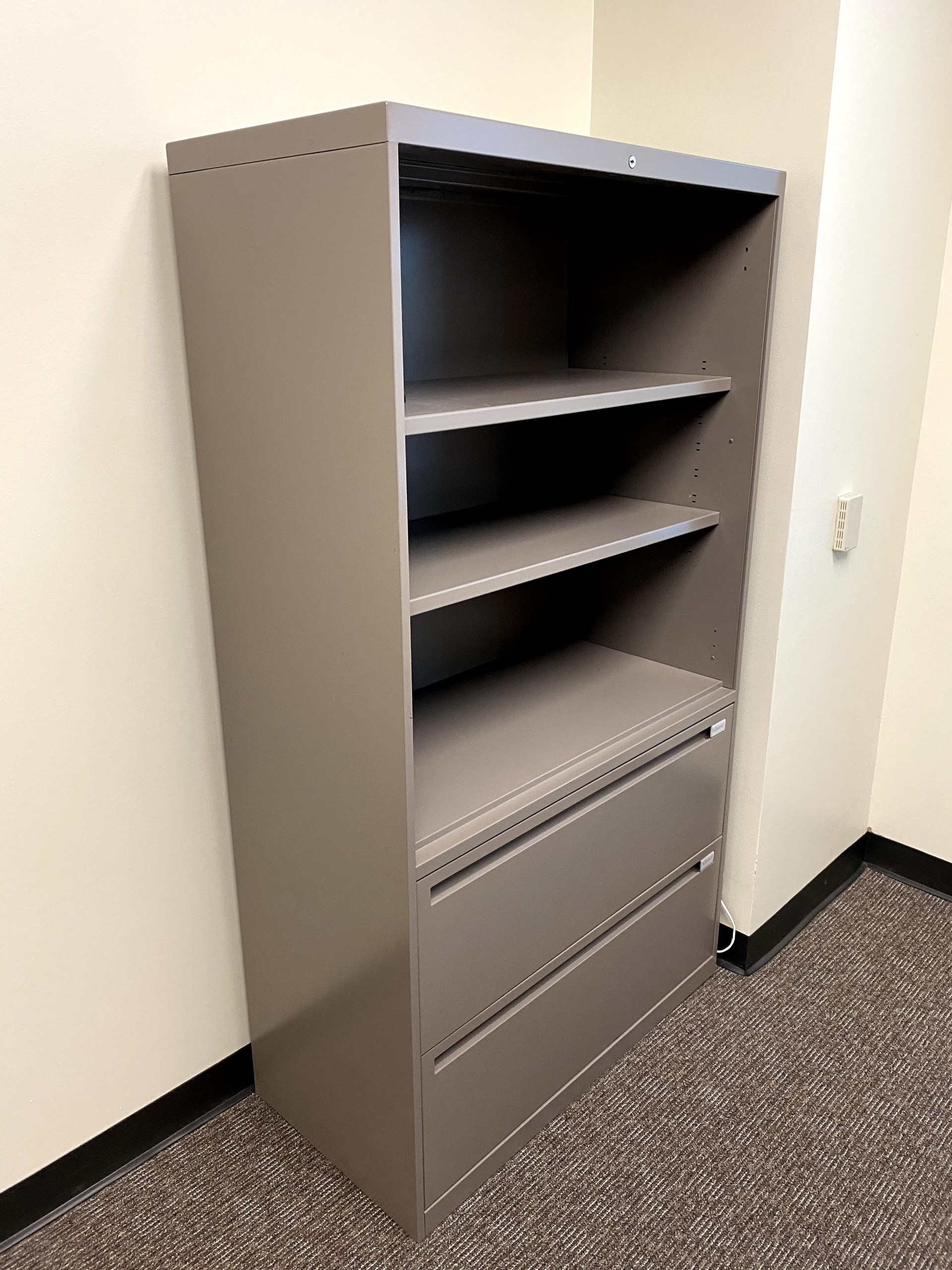Bookshelf with file cabinet