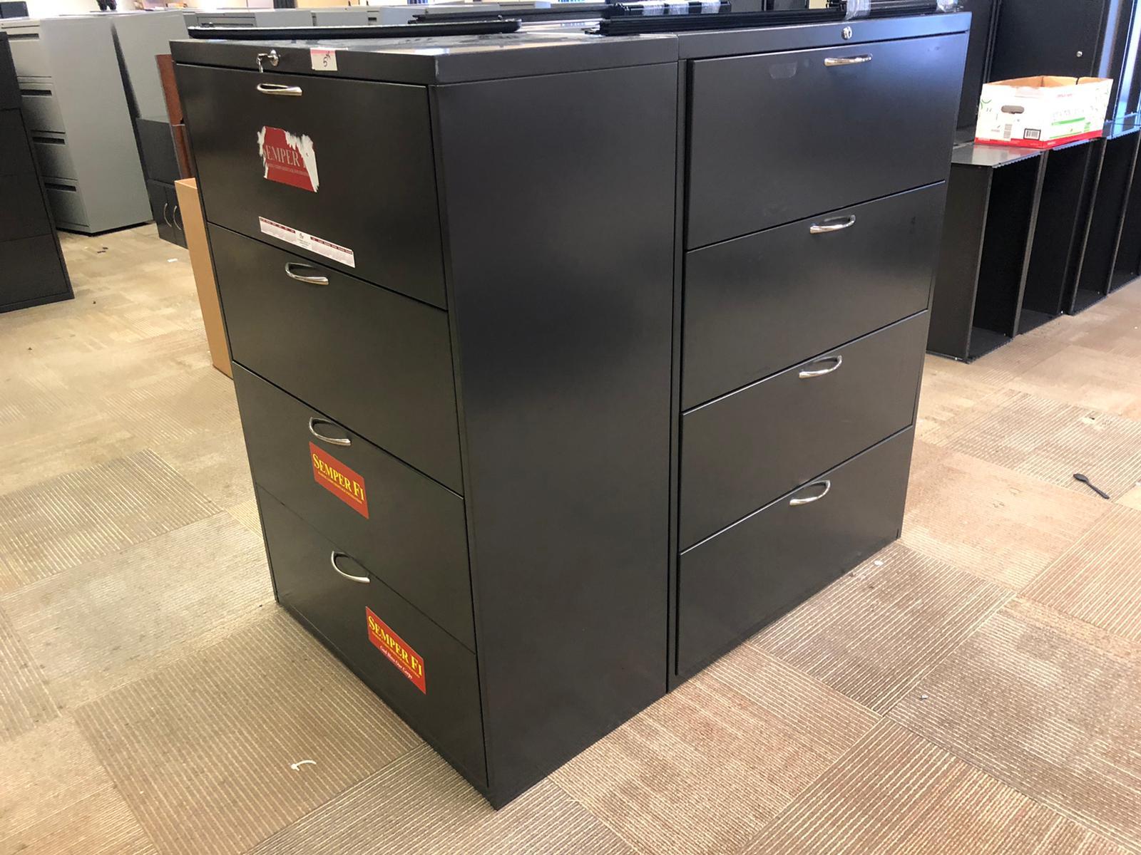 Black 4-Drawer File Cabinets